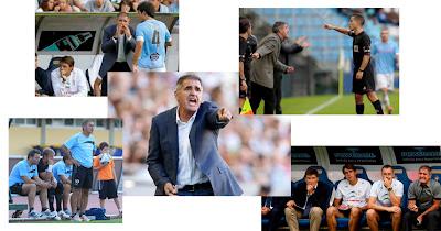 Herrera, en el banquillo del Celta de Vigo