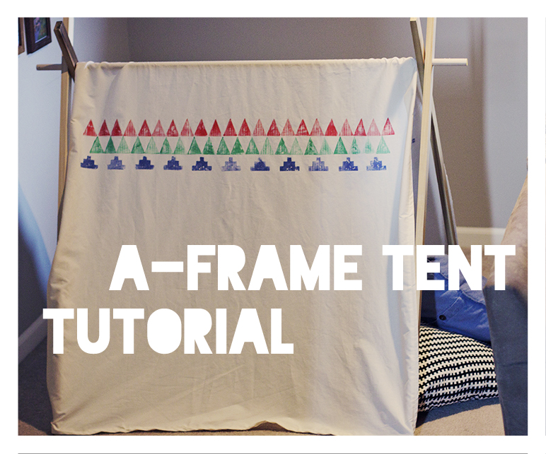 Fresh Picked: DIY {A-frame tents tutorial}