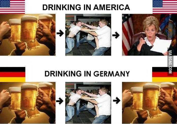 Drinking in Germany.