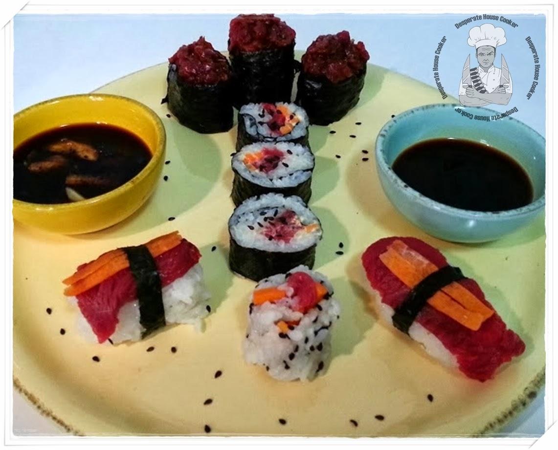 c'è sempre una prima volta.....il mio sushi (di carne)