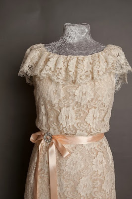 A guide to vintage lace wedding dresses, c Heavenly Vintage Brides