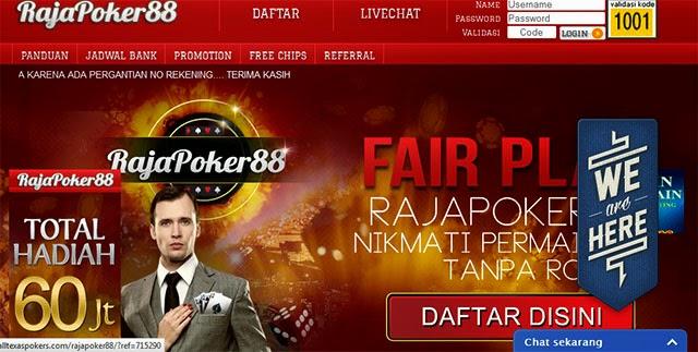 promo free chip raja poker88, poker online terpercaya, domino online terpercaya, kiu kiu online terpercaya di indonesia