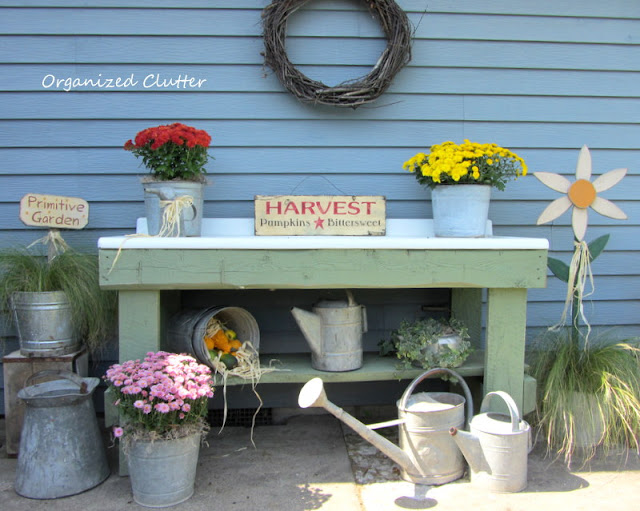 Fall Potting Bench