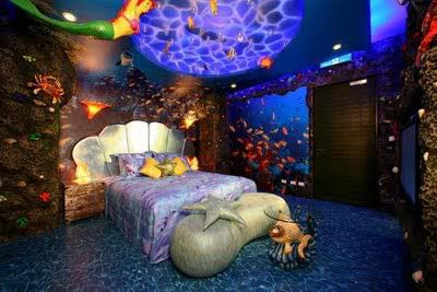 mermaid bedroom seashell bed and nautical ceiling