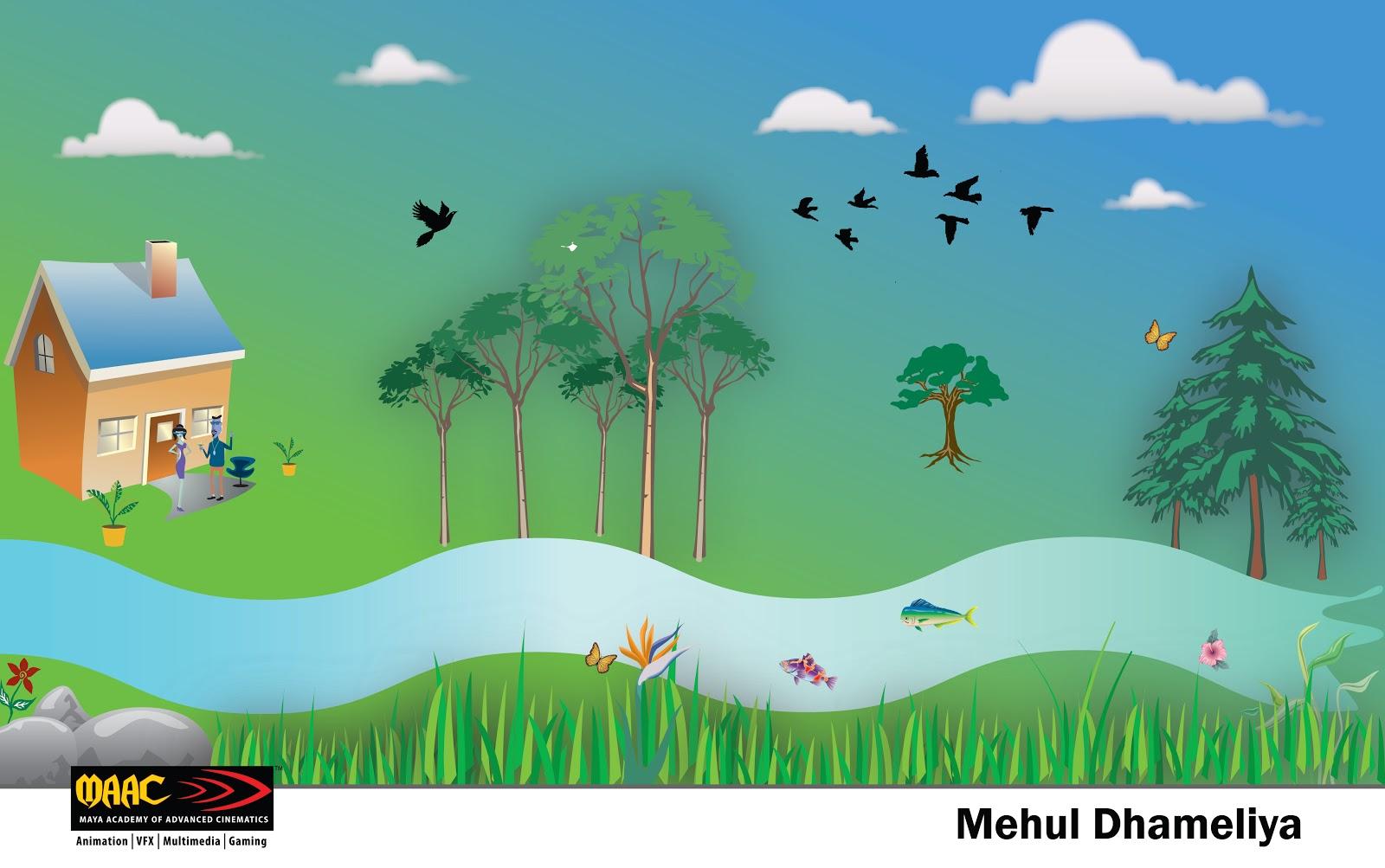 Scenery Using Symbols Illustrator Cross Creation Mehul Dhameliya