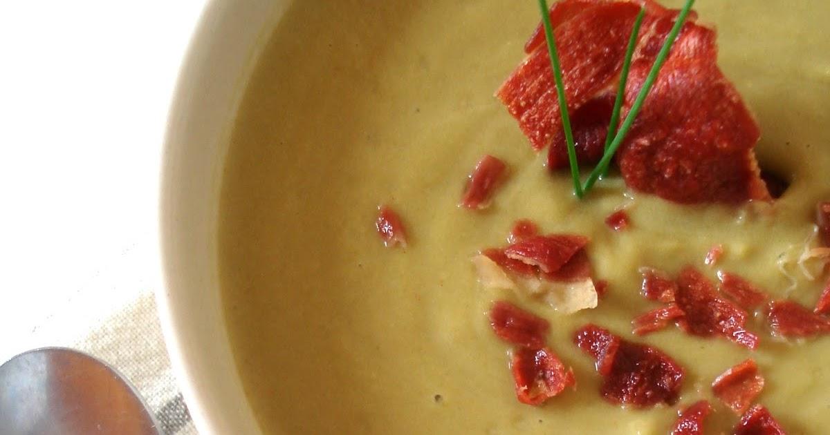 Cocin ndotelo crema de jud as verdes con jam n crujiente - Tiempo coccion judias verdes ...