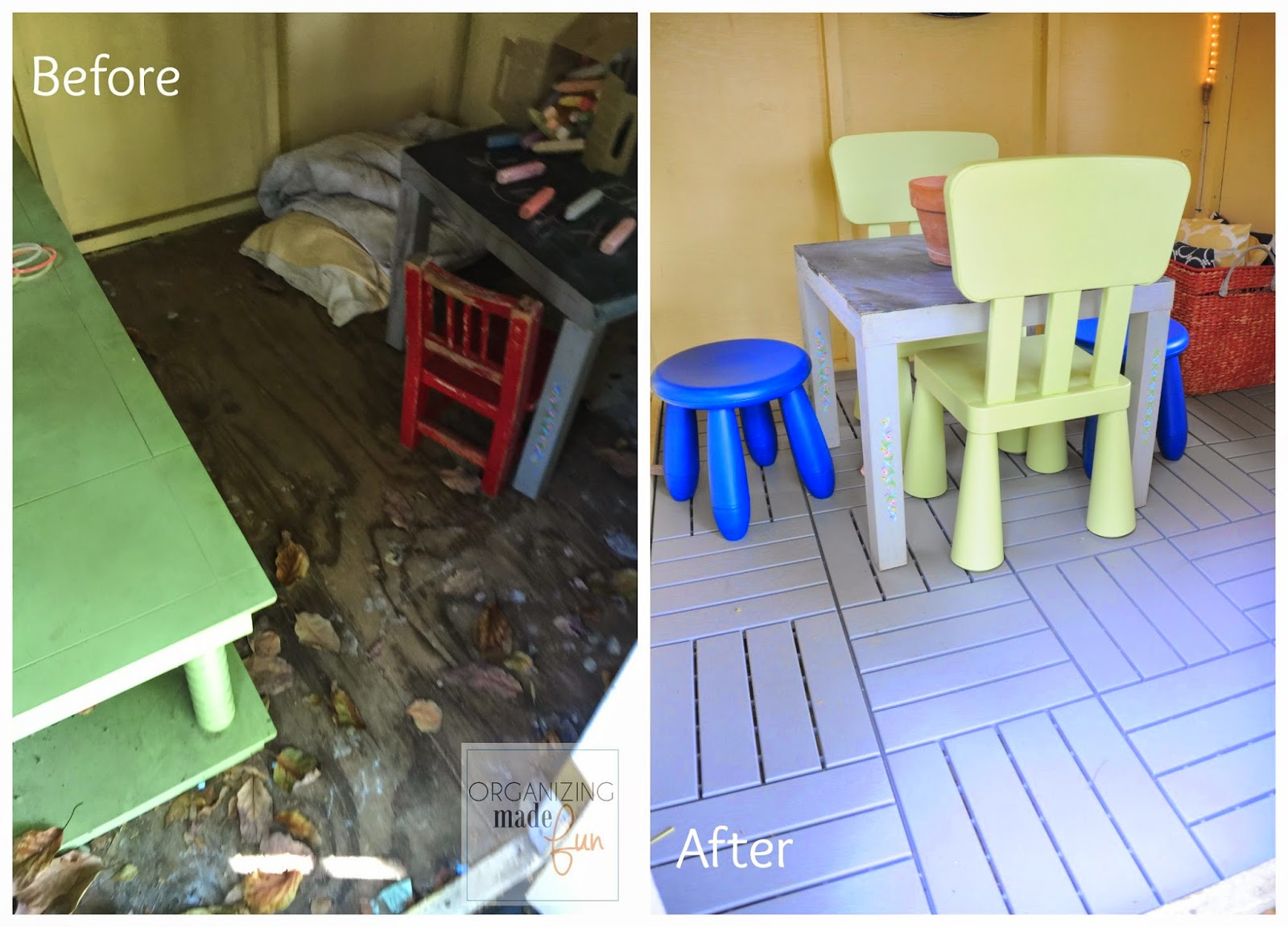 Before and After in Playhouse :: OrganizingMadeFun.com