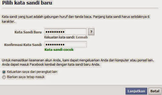 cara buka facebook lupa password