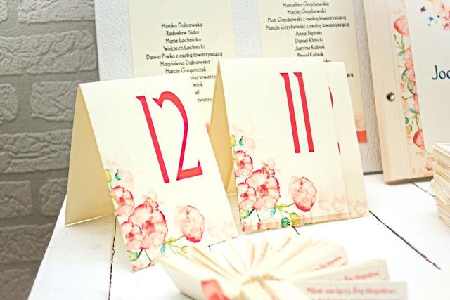 numeracja stolików wesele