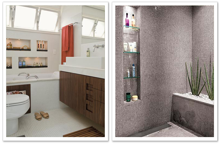 Decorando por ai Banheiros de suite -> Nicho Banheiro Vertical