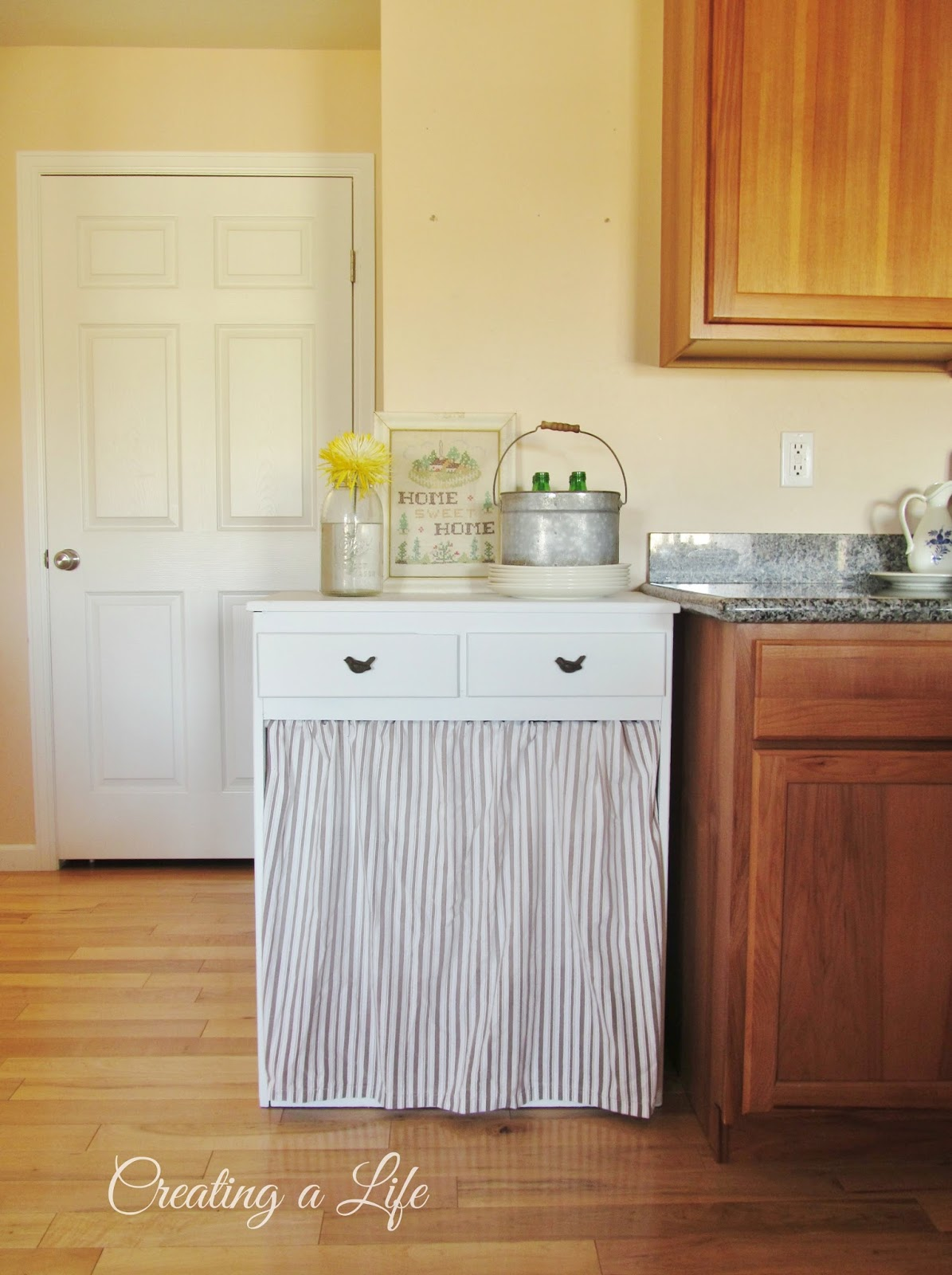 Creating A Life: Farmhouse Style Kitchen Cabinet