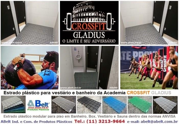Piso plástico para academia CrossFit Gladius em São Paulo