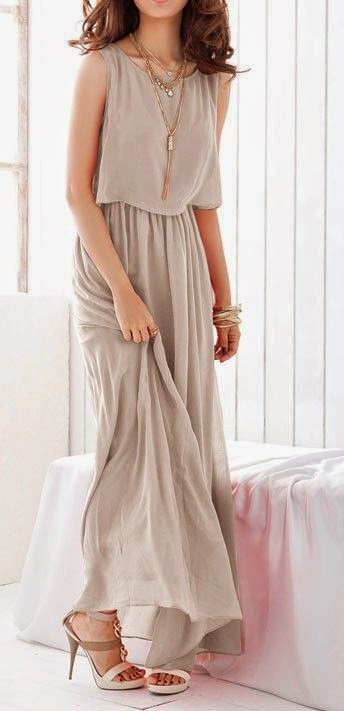 Light Grey Pleated Sleeveless Wrap Bohemian Chiffon Dress