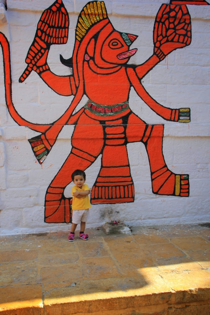 Hanuman wall painting