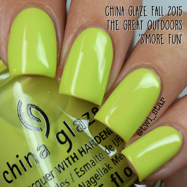 China Glaze The Great Outdoors Fall 2015 S'More Fun