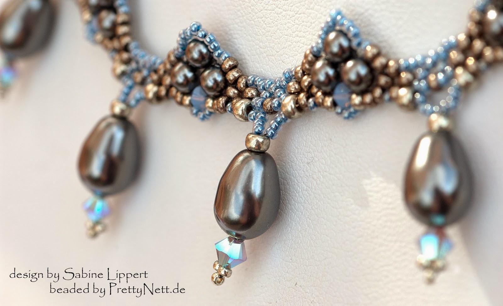 """Necklace """"Art Deco"""" beaded by PrettyNett.de"""
