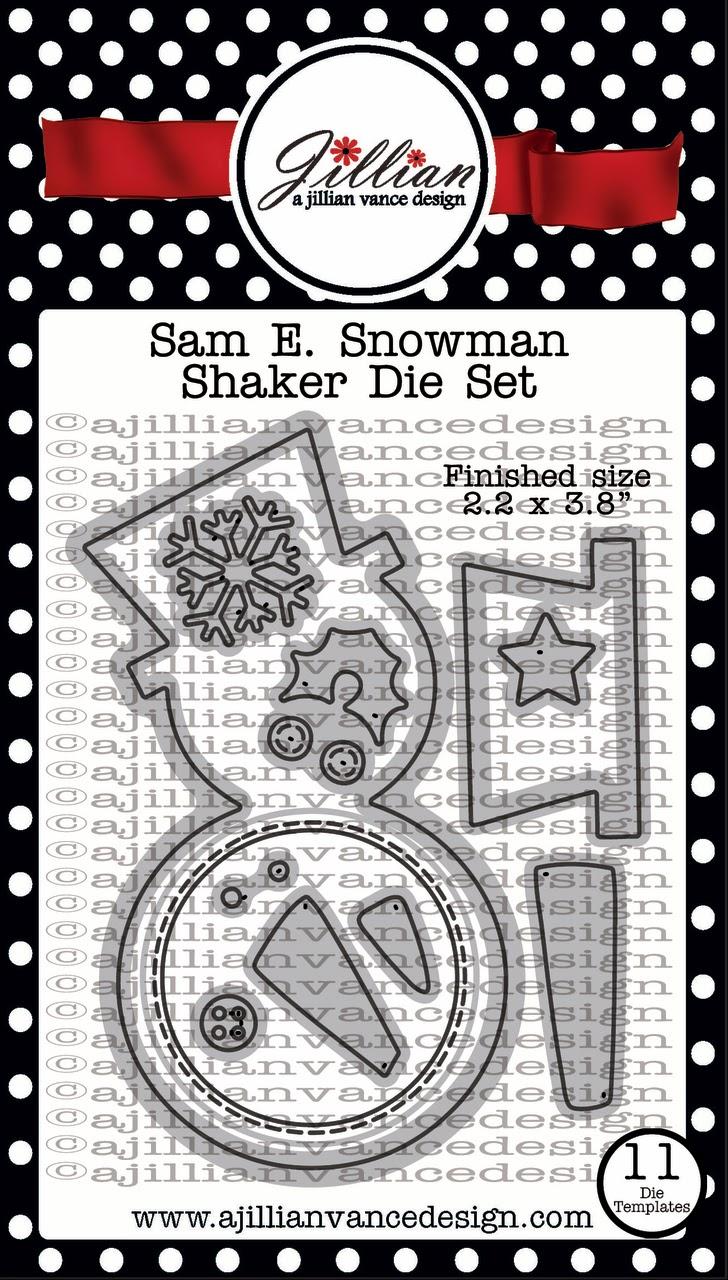 Sam E. Snowman Shaker Die