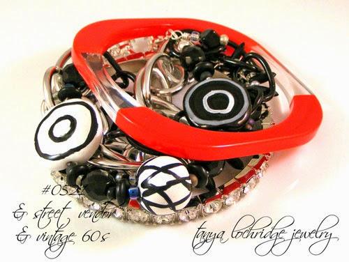Kazuri Bead Black & White Collection Bracelet