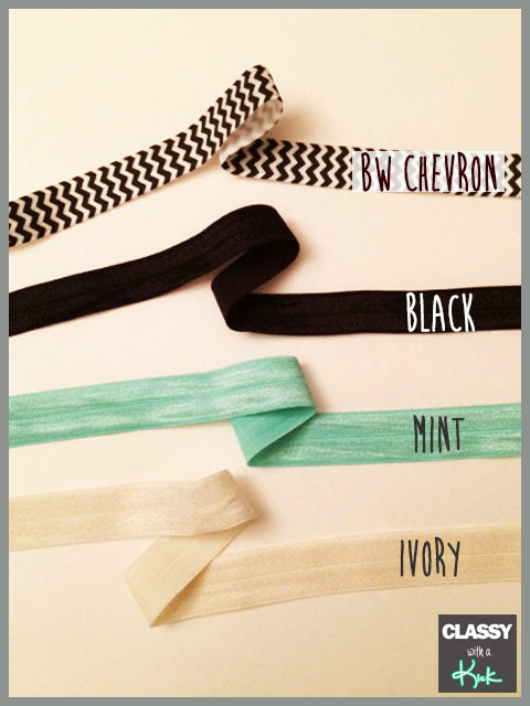 Classy with a Kick: Chunky Chain Bracelet Hair Tie Colors