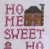 home sweet home cross stitch sampler chart