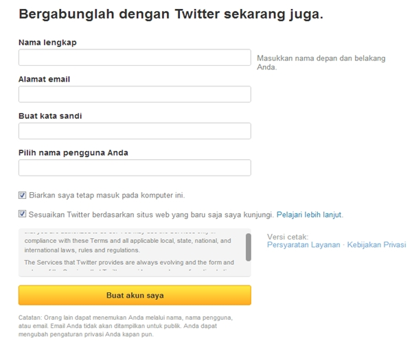 Cara Membuat Twitter (Tutorial Lengkap)