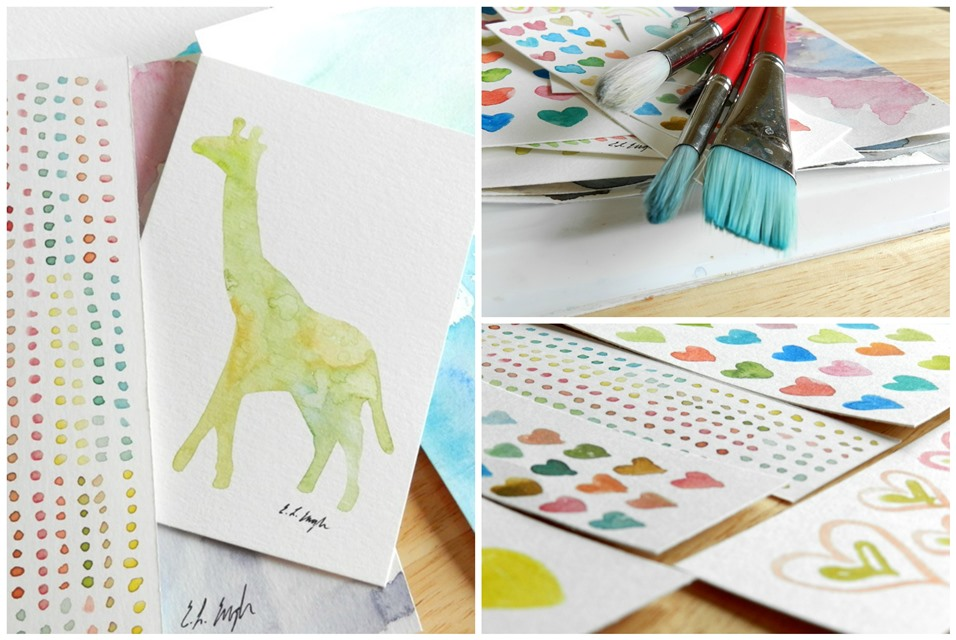 Original Watercolor Paintings by Elise Engh (Grow Creative)