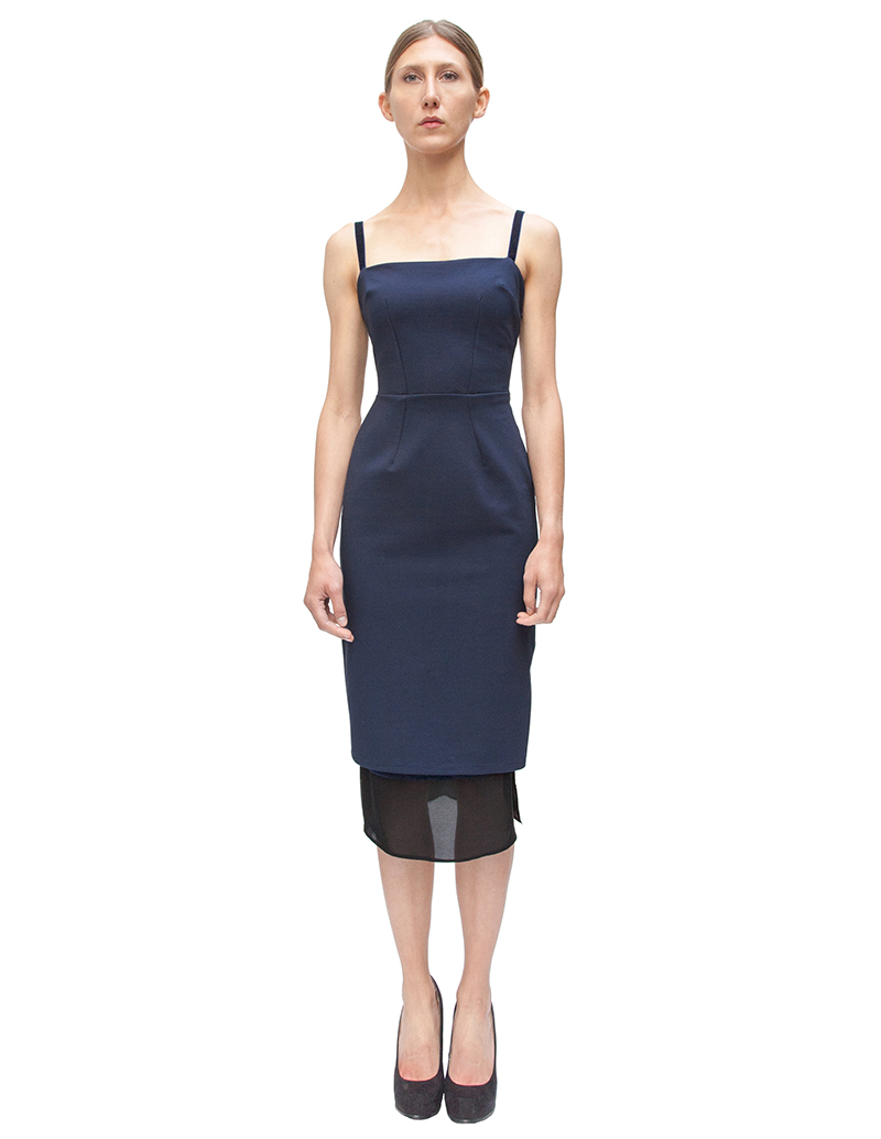 2014 Fall Navy Cocktail Dresses pencil dress navy dress