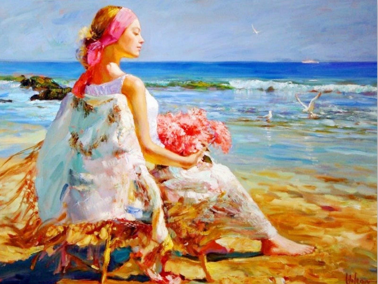 Cuadros modernos pinturas y dibujos retratos de mujeres - Los cuadros mas bonitos ...
