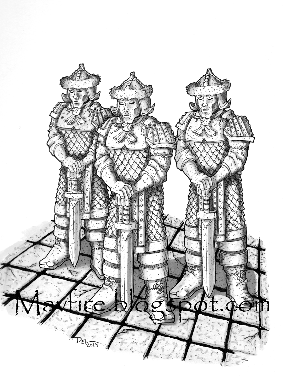 Terracotta Warriors RPG drawing