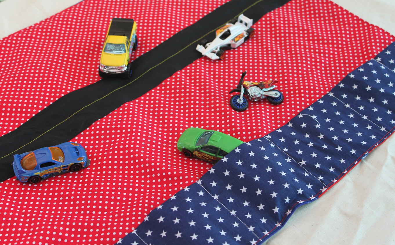 Fabric Roads For Toy Cars : Sew delicious toy car mat tutorial