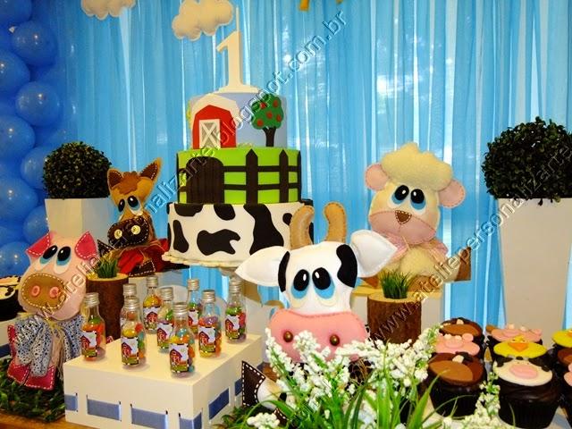Decoração de festa infantil Fazendinha provençal
