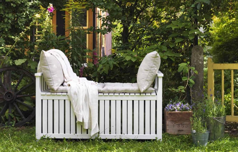 El bungalow - Bancos de jardin con almacenaje ...