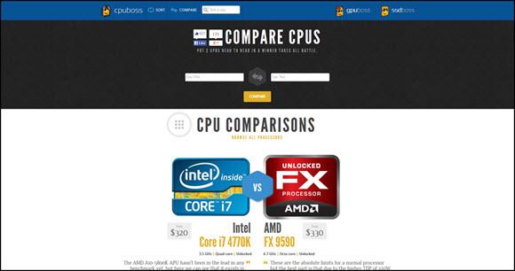 Compara micros, gráficas y discos SSD con CPUBoss