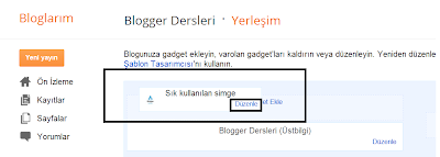 Blogger Dersleri - Blogger İkon Eklemek