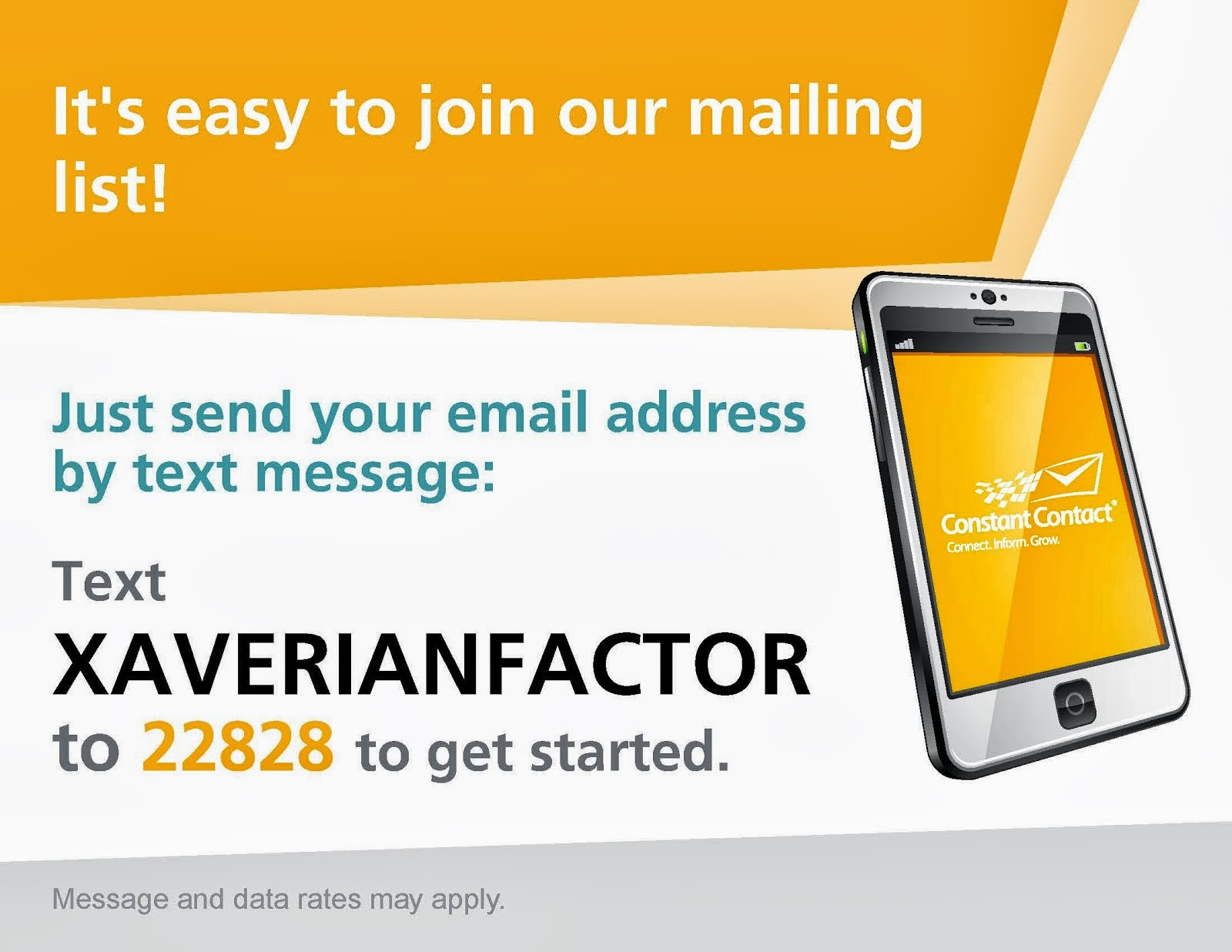 Get our E-Newsletter Xaverian Factor