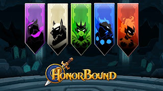 Screenshots of the HonorBound (RPG) for Android tablet, phone.