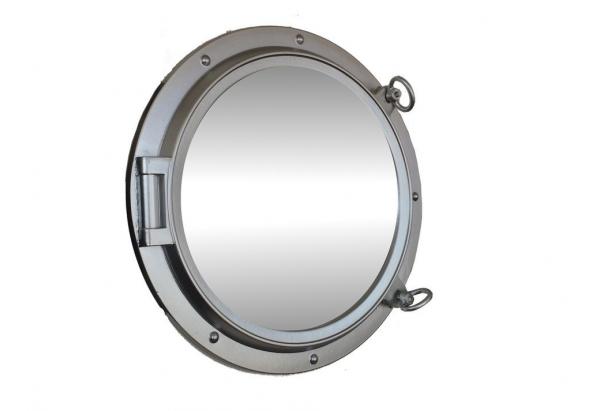 Silver Porthole Mirror