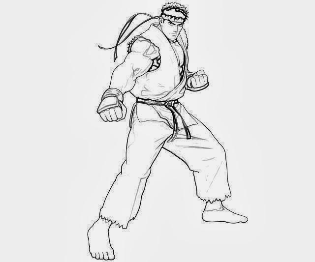 Desenhos print paint ryu fireball desenho para colorir for Ryu coloring pages