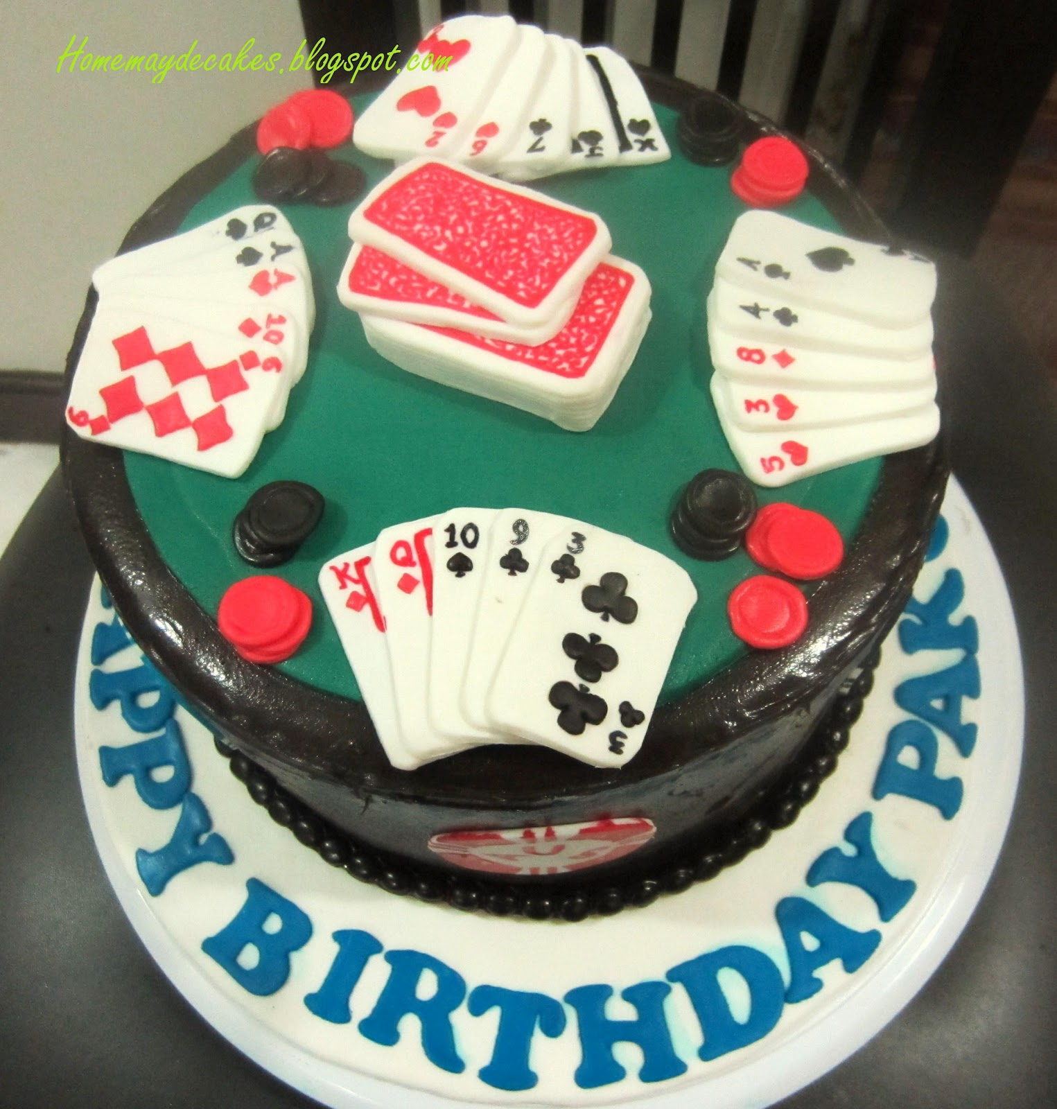 Home Mayde Cakes The Making Poker Table With Chips Cake