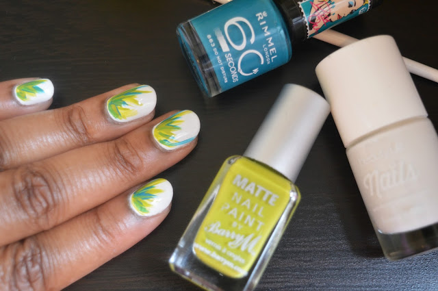 Grass Design Nails Monday Mani - Mellies Corner
