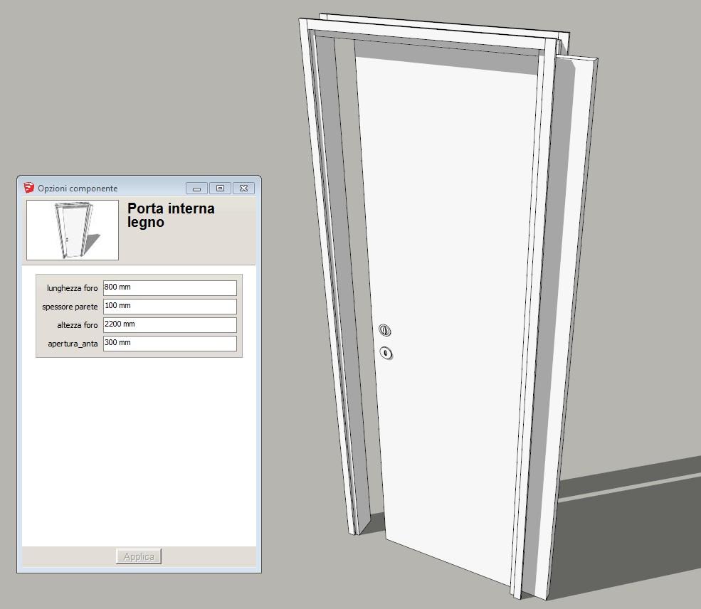 Arredare con sketchup porta scorrevole parametrica for Porta ketchup