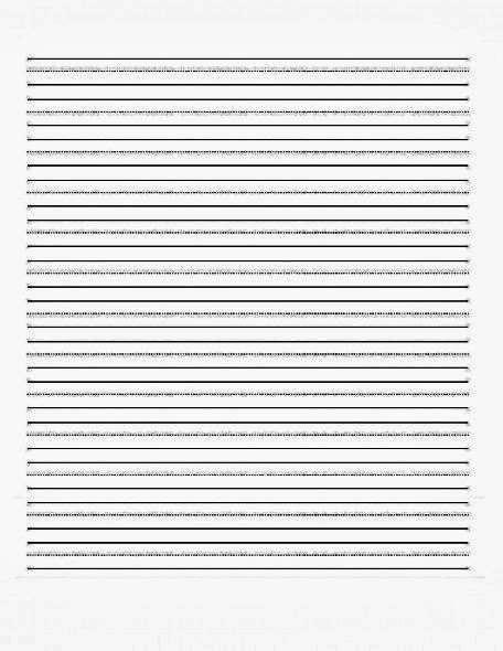 Blank Handwriting Practice Sheets For Kindergarten - children ...
