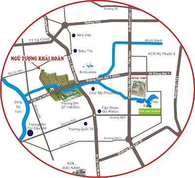 Sơ đồ vị trí: Ngu Tuong Khai Hoan