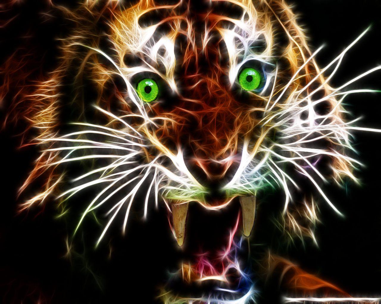 tiger fractal cats e - photo #48