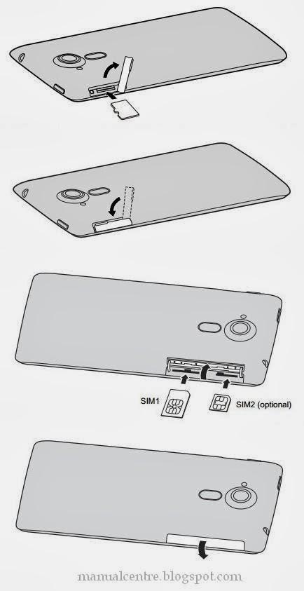 Installing a SIM or microSD card
