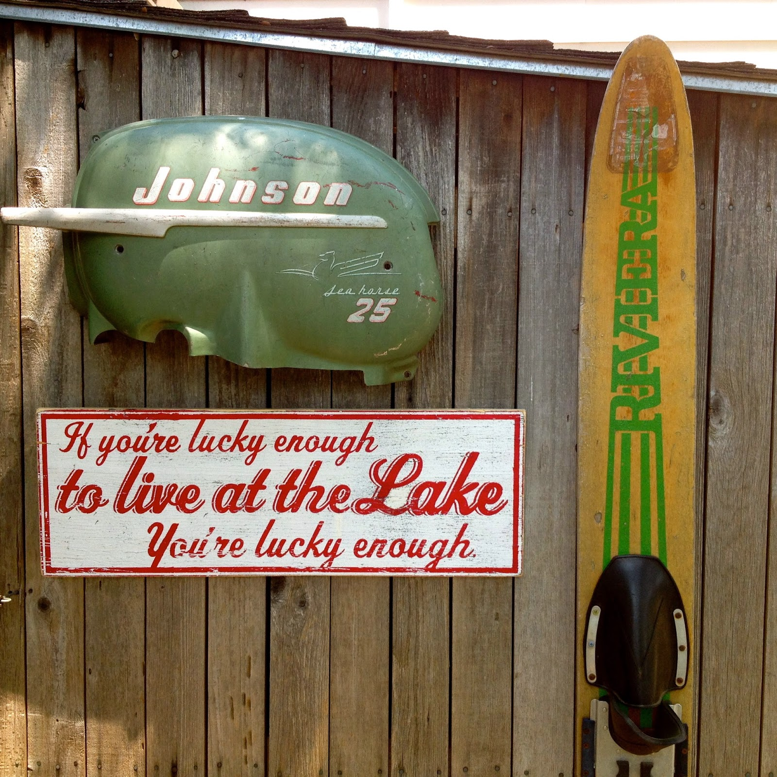 lake house and boat house decor using repurposed items