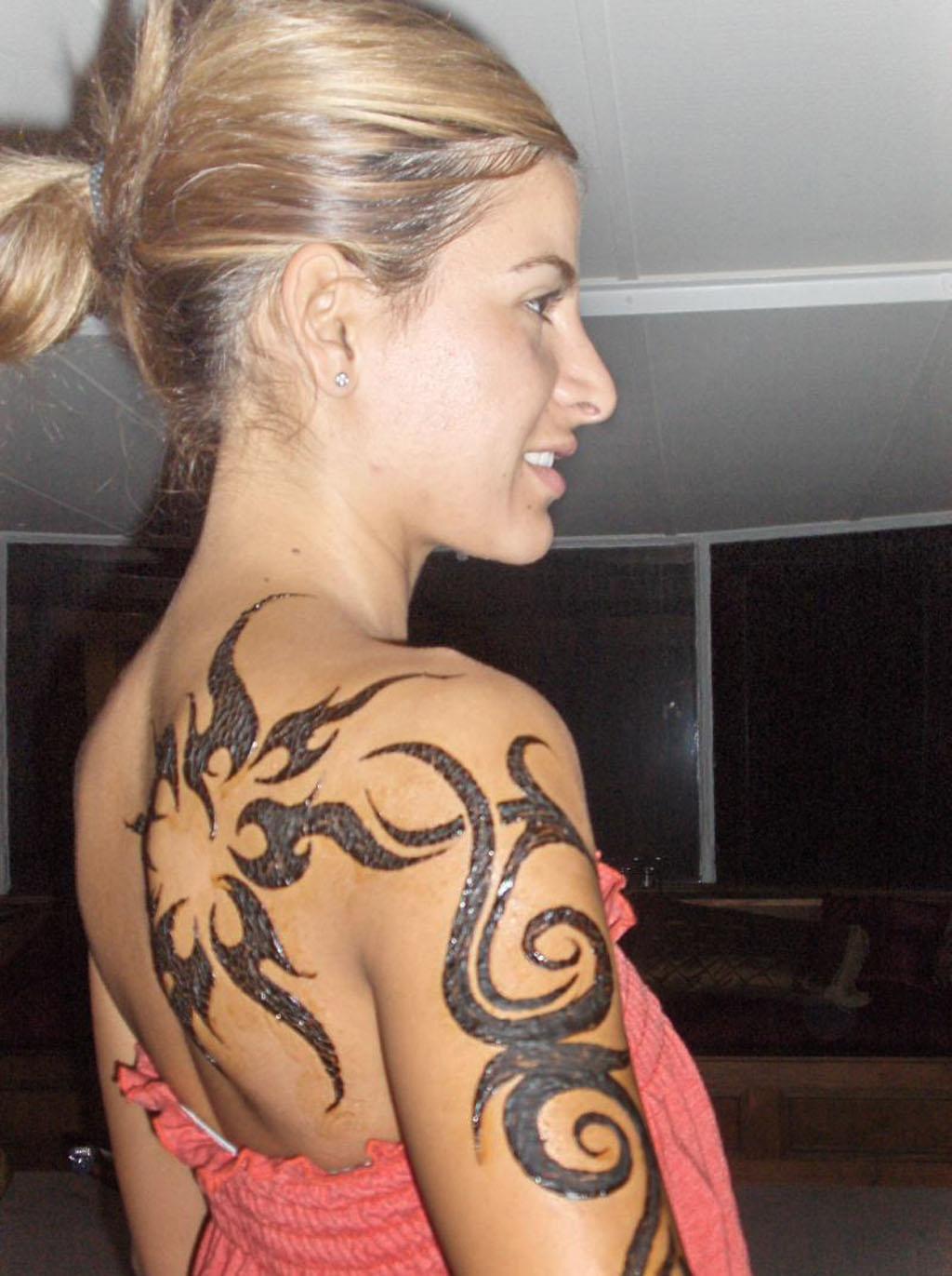 Tribal Shoulder Tattoos For Women