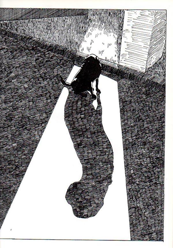Ilustración, La sombra del perro de Ana María Contreras