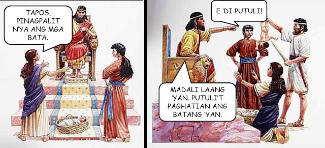 nyo si Solomon sa istoryang ito kung saan merong nagtatalong mag-ina