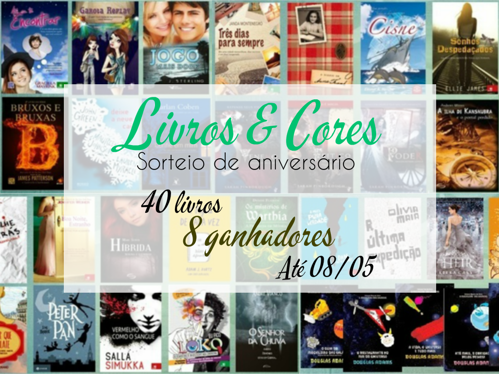 SORTEIO #20 - PROMOÇÃO DE ANIVERSÁRIO DO LIVROS & CORES